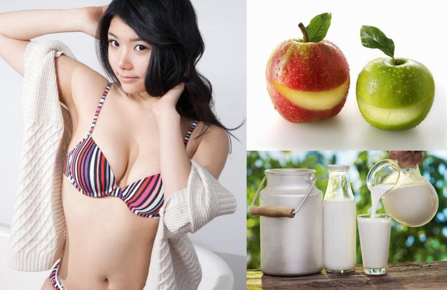 sữa táo nâng ngực